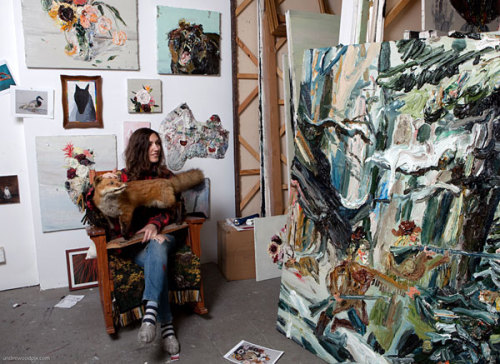 Allison Schulnik's Studio