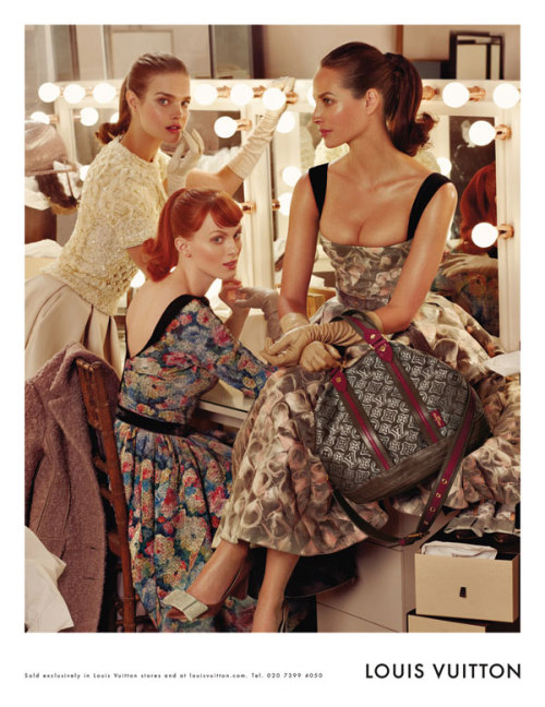 Natalia Vodianova, Karen Elson & Christy Turlington for  Louis Vuitton
