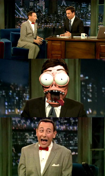 naessessary:  hotpotofcoffee:  peeweesplayhouse: yessss  I just died. Jimmy Fallon as Large Marge. *faints*
