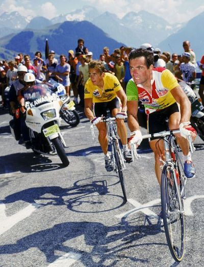 cadenced:  Greg Lemond and Bernard Hinault in action…