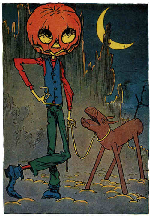 Jack Pumpkinhead and The Sawhorse from Little Wizard Stories of Oz (1914)  Artist: John R. Neill