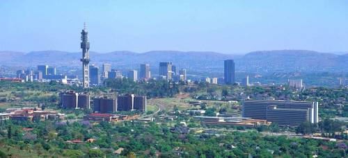 Pretoria skyline, 30 mins outside of Joburg (on the highway, on a good day, no traffic)