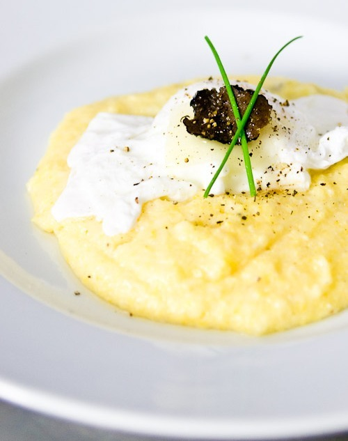 lacuisine:  Black Truffle & Cheese GritsFollow the link for recipe.Thanks to No Recipe