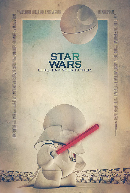 Unique Star Wars / Munny poster design by Tomasz Opasinski. Check out more of his epic movie poster redesigns HERE. Related Rampage: Epic Film Posters Star Wars by Tomasz Opasinski (deviantART) (Twitter) (Facebook) Via: pacalin | itstarwars