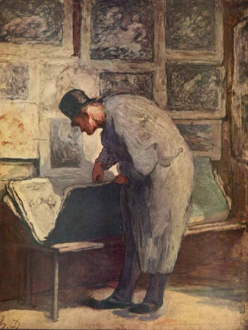 Honoré Daumier, The print lover 1857-1860