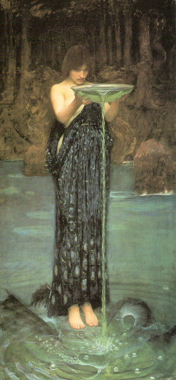 "aubade:  John William Waterhouse, ""Circe Invidiosa,"" 1892."