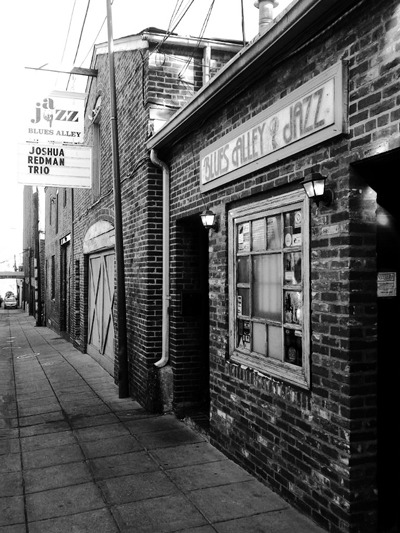 Blues Alley, Georgetown.  Taken with BlackBerry Torch.