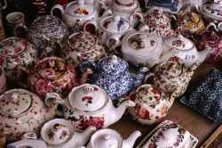 'so much tea… so little time!' trafficjem:  Celenne! Look teapots! Haha