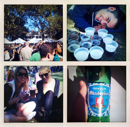 Went to Oktoberfest on Governors Island last weekend.   A word of advice: get all the beer you are planning to drink at once. The beer line is over an hour long #poorlyorganized.