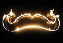 moustaches:  (via truemarmalade: 5begallery.com) Flamin' mo.