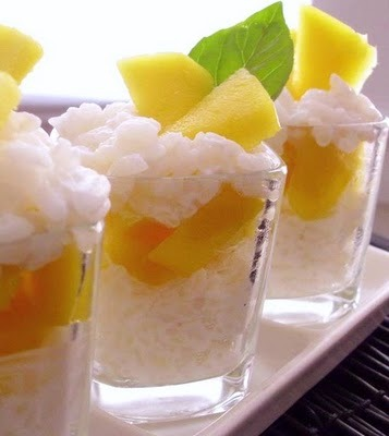Thai-Style Sticky Rice and Mango Dessert Shots! This is one kind of shot you can do all night long and not end up in the ER for a stomach pump! Well, I guess you could eat so many that you might end up in the ER. If you can do that well then, sir, I'd like to shake your hand! Click through for Thai-Style Sticky Rice & Mango Shots recipe that makes 8 to 10 shots; total cost per serving: $0.65. Thrifty! [via veganfeast via easyfastcheapcooking]