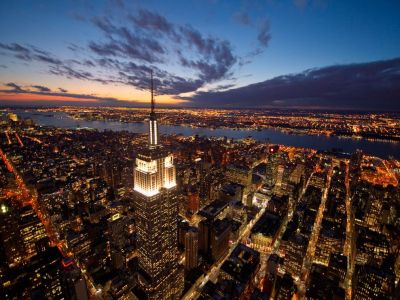 wnyc:  nationalgeographicdaily:  Empire State Building, New YorkPhoto: Joe McNally In the city that never sleeps a new awareness about energy means the  Empire State Building now uses bright lights at night only to celebrate  holidays and special events. And power-hungry Manhattan has generating  potential of its own: A tidal-energy project under development in the  swift-flowing East River could power a thousand homes.  Over at WNYC, we are in an Empire State of mind.