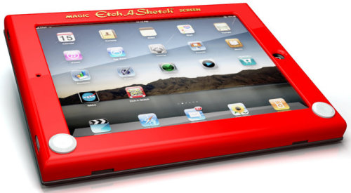 i don't own an ipad, but if i did i would seriously consider using this case. etch a sketch ipad case via NYT