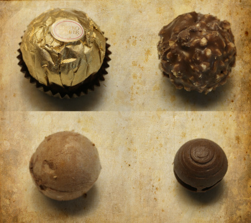 camillerocks:  Ferrero Rocher — layer by layer :)  Eating these at the moment.