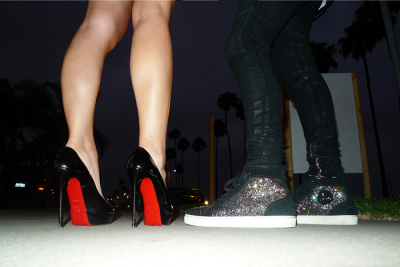 His & Hers - Louboutins   (Seen via 2BitchezDeep | Photo via Crystal Avalanche)