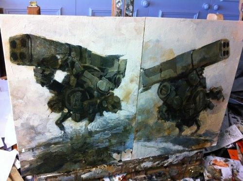 Gravedigger Heavy Bramble paintings by Ashley Wood.