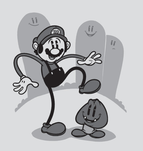 "Tee of the Day: ""Steamboat Mario"" by Justin ""Jublin"" White.   (TFA: One day only!) [teefury.]"