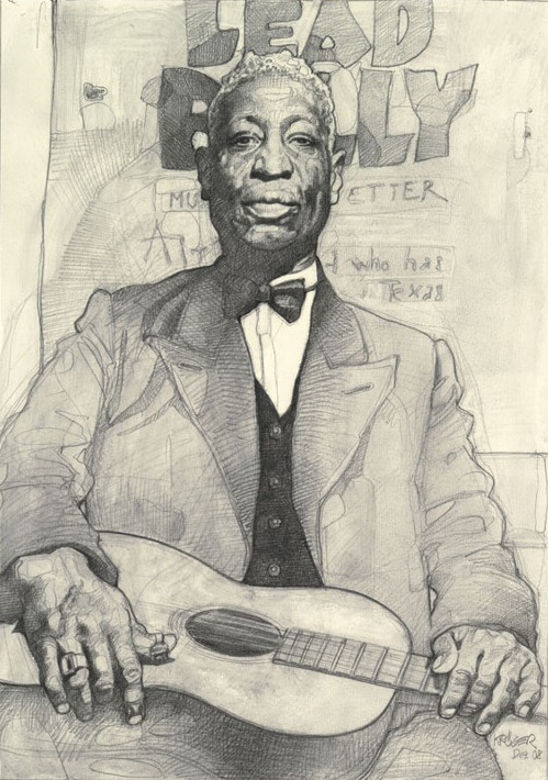Lead Belly by Sebastian Krüger Graphite on Paper (2008)