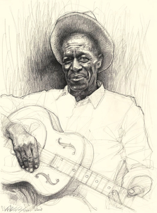 Son House by Sebastian Krüger Graphite on Paper (2008)