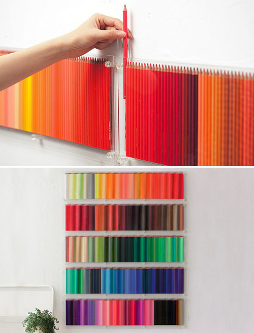 hfgl:  thingsorganizedneatly:  Colour co-ordinated colour pencils.  omg, this is heaven!!!!!