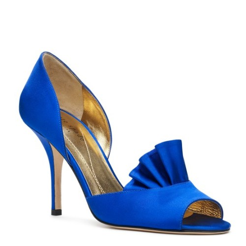 Shoes of the day: Blue heels from Kate Spade
