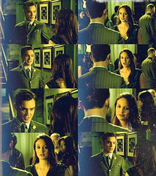 "Blair: Where is Martha's date?!Chuck: Penthouse suite at the empire with a woman I assure you he won't want to leave until morning, maybe afternoon. Depends on his cardio.Blair: I was going to play nice. You think I don't have a plan ""B""?Chuck: Plan ""B""?! What could be more cunning and devious than date night? Blair: I had Dorota get chummy with Martha's maid, who came over from one of her sweatshops in the Philippines. If I had to, I'll blackmail her for the position.Chuck: An illegal maid scandal? Nobody's cared about those in years.Blair: And a lesbian switheroo doesn't make you Blackwater. Chuck: The switheroo was for fun. The I.R.S. Agent standing by to crawl up Martha's audit is notBlair: A tax fraud setup? They give away girl scout badges for that. I have prenup. It has details.Chuck: I have the nanny. She has pictures. Martha's ex is in them. So is Martha. It turns out it was a threesome until the nanny turned it into a twosome.Martha: Oh, my God! You students are psychotic. I have better things to do with my time. Tell the deam I quit.Chuck: Shame. Sounded like a great class. If you'll excuse me, I've heard good things about the make-your-own-pizza-bar. 4.05 Goodbye Columbia"