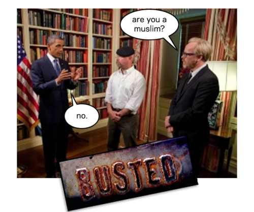 thedailywhat:  Busted Myth of the Day: Preview still from President Obama's upcoming appearance on Mythbusters. [reddit.]  Well done, gentlemen.