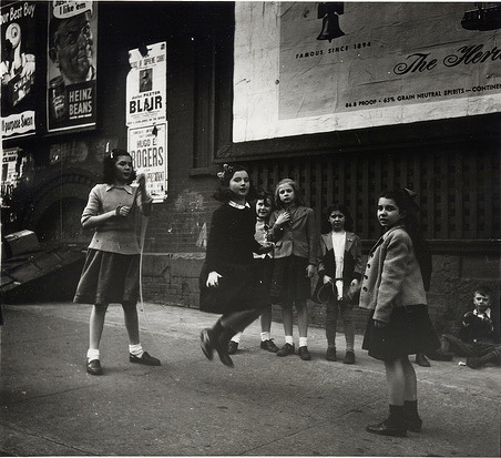 1940s - Lower Manhattan, Jumping Rope by Rebecca Lepkoff