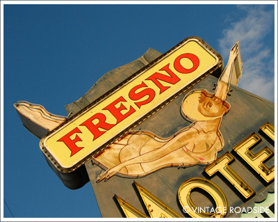 """Dive In"" The Fresno Motel. Highway 99 - Fresno, California. Now available for licensing and as a fine art Chromira print on Fuji Crystal Archive Paper. To order visit our website here. To license image please find our contact form here. All images © Vintage Roadside"