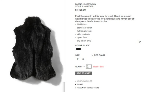 My Rabbit coat now has a sibling! I just bought this Fox fur vest and it's pretty amazing.