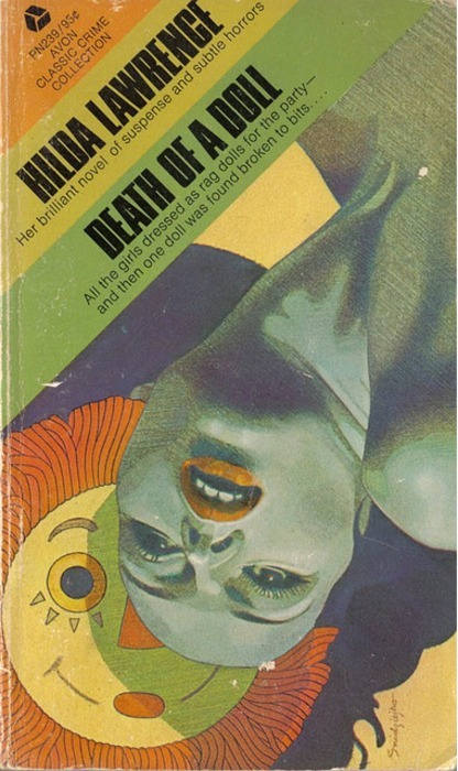 """Death of a Doll"" book cover, artwork by Hedley Rainnie via Eric Carl."