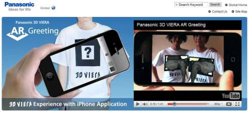 Here's another execution of AR on iPhone, done for Panasonic Viera 3DTV. You can download the app here or watch the video below.