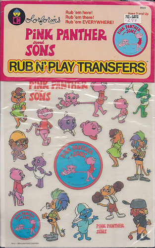 Colorforms Rub N' Play Transfers Photo courtesy of Kerrytoonz