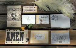 Southern-Style Invites Letterpress wedding invites by Austin design shop PTARMAK.
