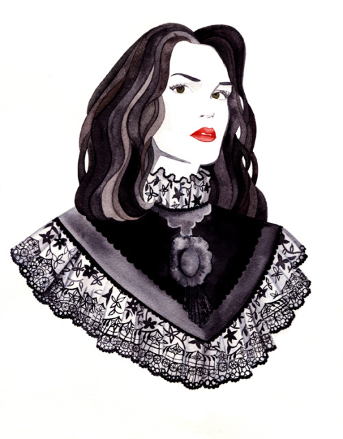 Re-blogging my own work. artlove:  Millie Watercolor on paper Jessica Murrieta Http://jessicamurrieta.tumblr.com