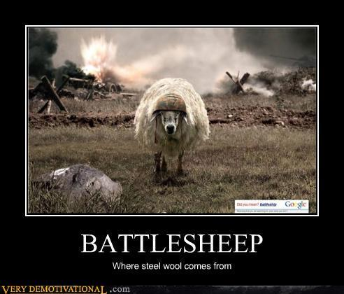 BATTLESHEEP - Very Demotivational - The Demotivational Posters Blog