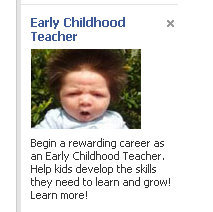 I cannot stop laughing over this ad that facebook presented me with today.