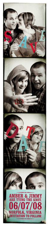 This photo booth Save The Date is all kinds of awesome.