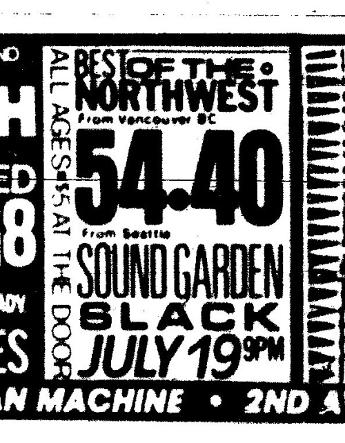 July 19, 1986 Pine Street Theater Portland, OR, USA