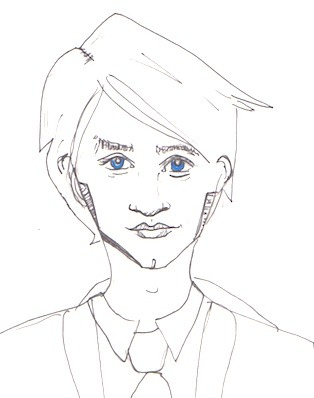 30 Drawings Challenge, 22: A wizard.  Draco Malfoy, who I have always had a weird soft spot / pity spot for. I don't really like this drawing but I have come to terms with the fact that I'm not doing to do anything much better for this prompt, and at this point I just want to move on. I think Draco is probably both more and less pretty than this drawing even begins to articulate, but what does that even mean so oh well. [previously: 1, 2, 3, 4, 5, 6, 7, 8, 9, 10, 11, 12, 13, 14, 15, 16, 17, 18, 19, 20, 21]