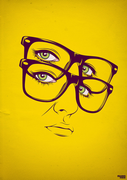 Yellow // Illustration by craniodsgn found on: http://www.flickr.com/photos/craniodsgn/5092979100/ __posted by weandthecolor//facebook//twitter