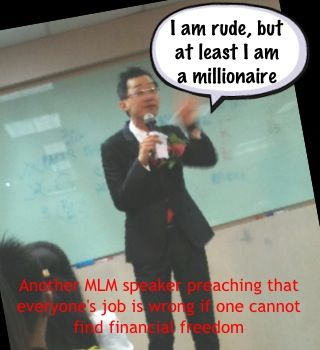 Another MLM preacher with his game face.