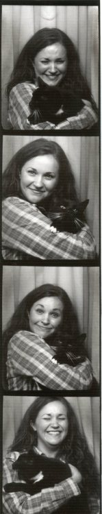 Bar cats are awesome. Photobooths are awesome. Taking a bar cat into a photobooth? Really awesome.