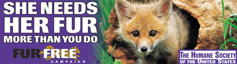 I WOULD RATHER GO NAKED THAN WEAR FUR!!!!!!!!!