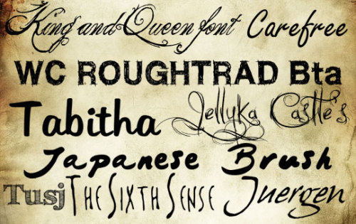Handwritten Fonts – Free Fonts of the Week nr. 6 Before inventing printing machines and metal types, handwriting remained the only way to save the literary works on paper and deliver the gained knowledge to the next generations. In many parts of the world, handwritten scripts achieved the levels of true art with aesthetic perfection of the lines and glyphs. Today, handwritten fonts remain extremely popular among designers, especially for such projects as logo or greeting cards designs, where personal appeal and high artistic qualities of the printed text value much more than its plain readability. A rich collection of free handwritten fonts is offered below for every cruziner to feel all the benefits of high quality handwritten fonts.