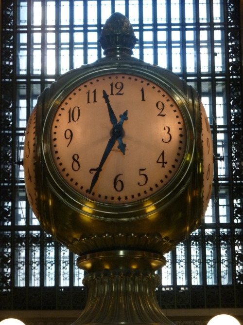 78) Grand Central Terminal Clock, NYC - above the main information booth. This clock has played an enormous role in my life for a long time, yet it's one of those things that too often we don't really see. Well, here it is. photo (c) Alan Strauber (all rights reserved) 10.21.10