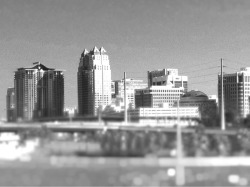 Photo: Into the City Using #tiltshift ,#cameraplus  iphoneography  Downtown Orlando