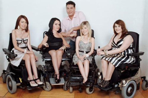 Disabled Models Will Star in London Fashion Shows Are disabled models finally getting their due? Earlier we told you about CAP48's campaign starring bra-clad beauty Tanja Kiewitz, who is missing a hand. Now, London is set to host not one, but two disabled fashion shows this month. Full story on StyleList here. [Models, left to right, Jay Tavernor, Tess Daly, Amy Dunne, and Sophie  Cox, with fashion show host Jonathan Phang. Photo courtesy of HAFAD]