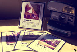 Polaroids - 2011 Desktop Calendar Calendar Design & Photography by Jocelyn Leong. ©2010.