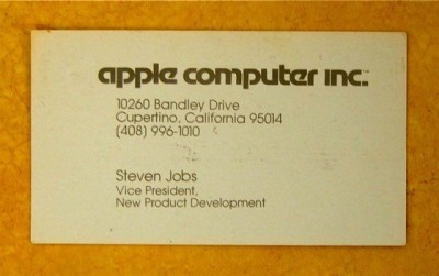 Steve Jobs's alleged business card, circa 1979.